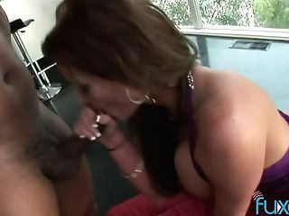 Tattooed Big Black Cock Fucks Sexually Charged Harlot With Big Faux Globes
