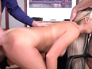 Crazy 3some With Intercourse Appeal Office Tramp Lara Onyx