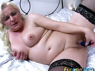 Matures Blonde Masturbates Her Fucky-fucky-starved Opened Up Twat