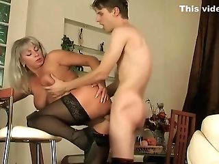 The Two Youthful Paramours Of Russian Lustful Mommy Elena