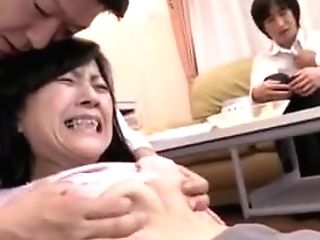 Japanese Cougar Internal Cumshot