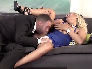 Insatiable Cougar Lana Vegas Needs One In The Booty And One In The Mouth