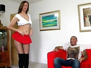 Stockinged Brit Doggystyles And Cocksucks
