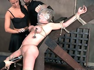 Crucified Bitch Dee Williams Gets Her Cooch Disciplined In The Basement