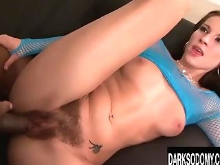 Victoria Daniels Gets Assfucking From Big Black Cock
