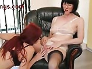 Ffstockings.com - Matures Lecturer Finger Bangs Youthfull Red-haired