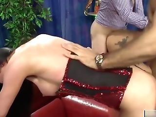 Sexy Honies In Fishnets Get Plowed