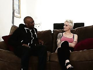 Australian Torrid Blonde Mummy Mila Milan Takes Big Black Cock In Slit For Rear End Fuck