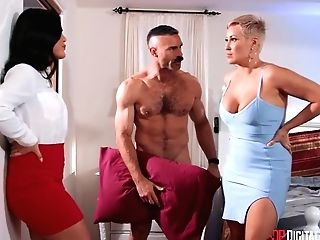 Kendra Spade And Charles Dera In Youthful Asian Nymph In High High-heeled Shoes Pleasing Charles In Couch