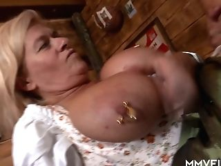Buxomy German Frau With Pierced Honeypot Maria Montana Fucks One Dude In The Pub