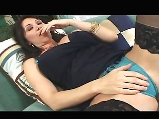 Alluring Curvy Matures Pokes Her Rosy Cunt With Finger