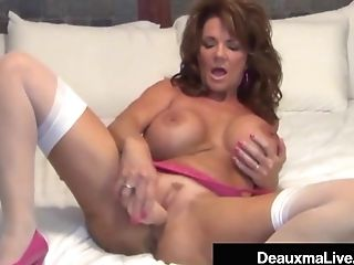 Buxom Cougar Deauxma Uses Four Inch Ass Fucking Cork & Fake Penis To Squirt!