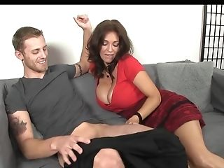 Big-titted Matures Deep Throats Youthful Man Sausage