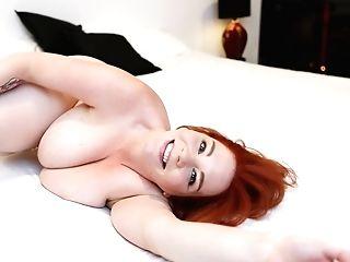 Plus Size Woman Avalon Bounces Her Immense Globes And Masturbates Pointy Snatch