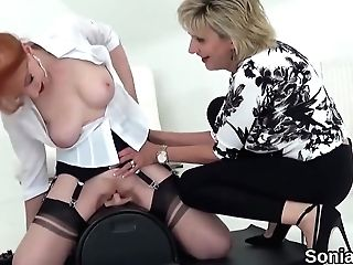 Adulterous English Matures Lady Sonia Displays Her Massive Melons