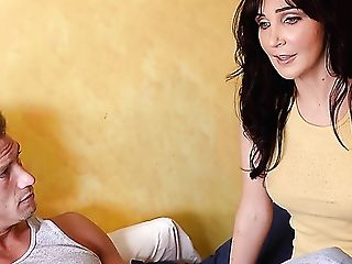 Nimble Stunner With Big Melons Diana Is Fucked On Top Of Strong Salami