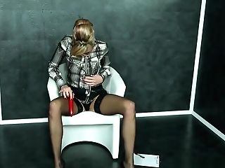 Classy Mummy Fake Penis Fucks While Cumdrenched